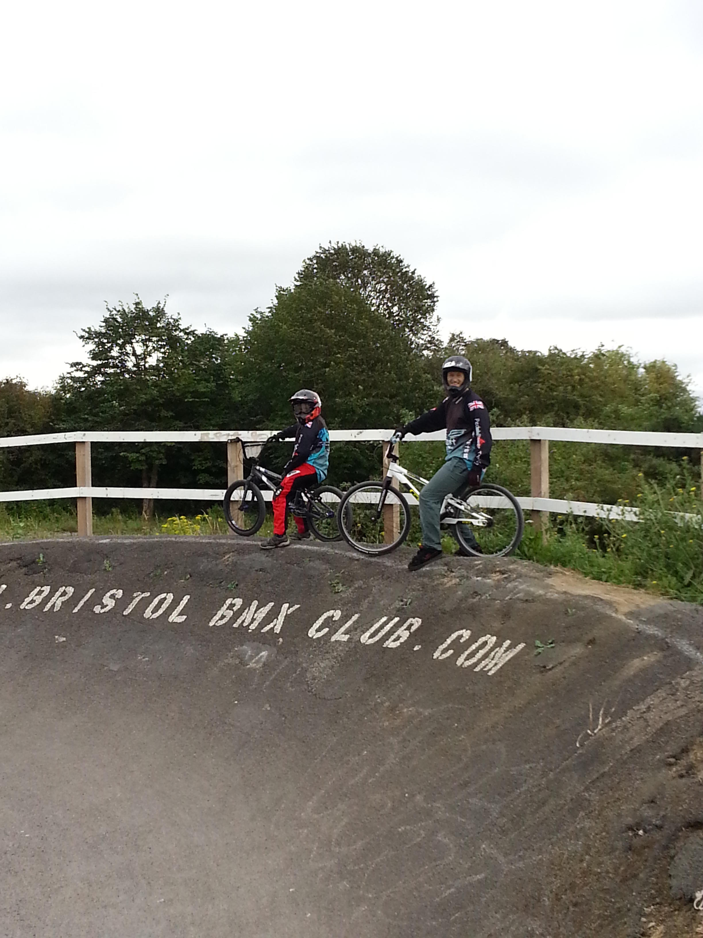 Peter and Fred at Bristol BMX Club track